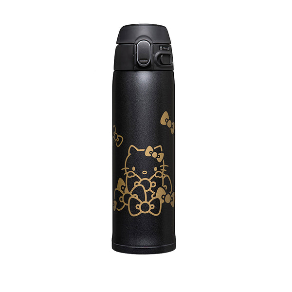 ZOJIRUSHI SM-TA48KTBA Hello Kitty Stainless Mug, 16oz (0.48L) Black