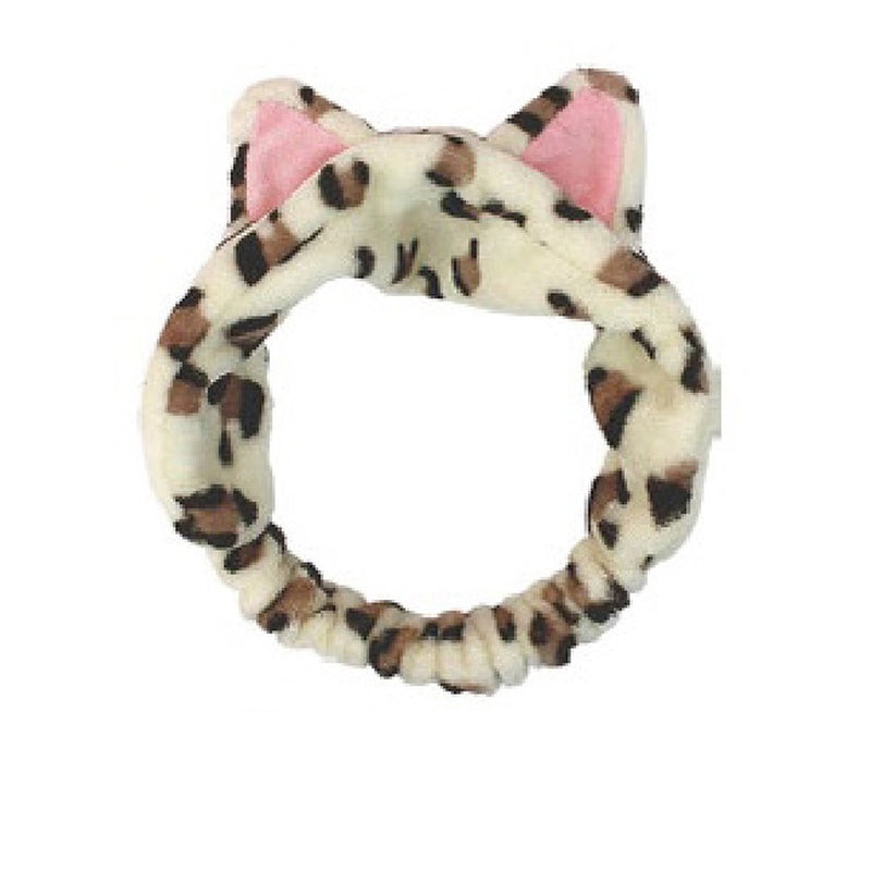 Necomimi Cat Ear Headband Leopard Brown 1pc