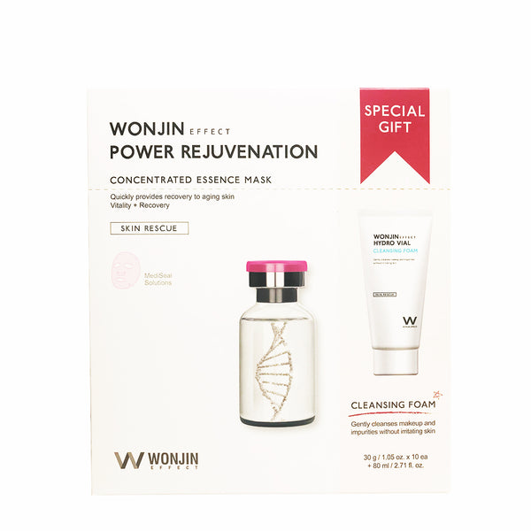 WONJIN EFFECT Power Rejuvenation Mask & Cleansing Special Kit 原辰 复颜焕肤雪绒花面膜+洗面奶套盒
