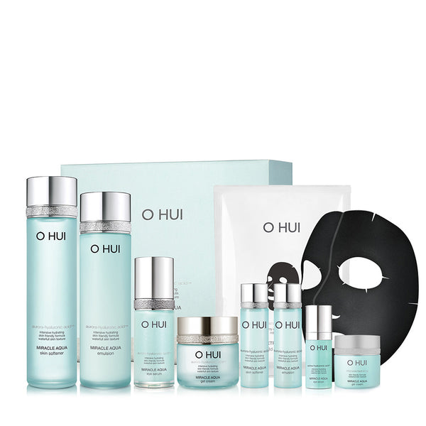 OHUI Reservoir Miracle Aqua Series Gift Set 9pcs Moisturizing Set 欧蕙 水库奇迹保湿系列礼盒9件套装