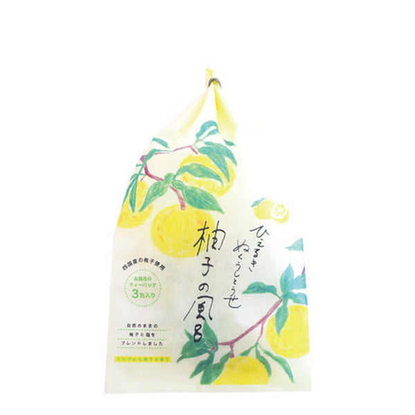 Charley Japanese Yuzu Bath Bag 3pcs 天然滋润柚子浴盐包
