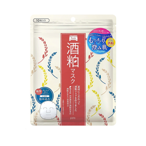 PDC Wafood Made Sake Face Mask (10PCS) 酒粕保湿面膜