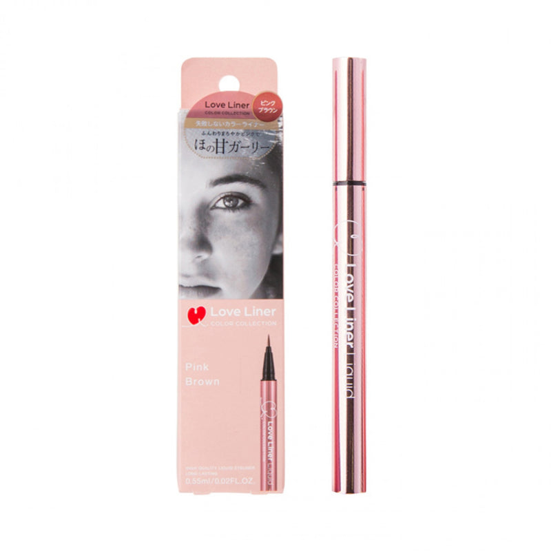 MSH Love Liner Long-lasting Liquid Eyeliner #Pink Brown 日本MSH 极细防水眼线液笔 #粉棕色