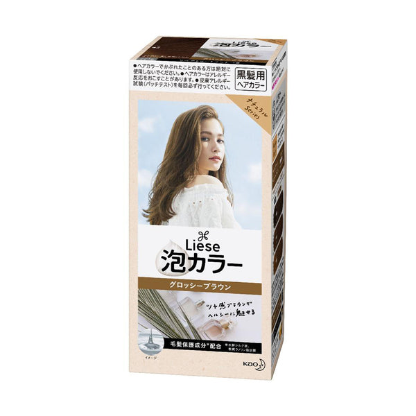 [Repackaged] KAO Liese Prettia Bubble Hair Color Dying Kit #Glossy Brown