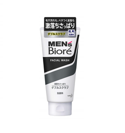 Biore Men's Facial Wash Double Scrub 130g 男士洗面奶洁面乳膏