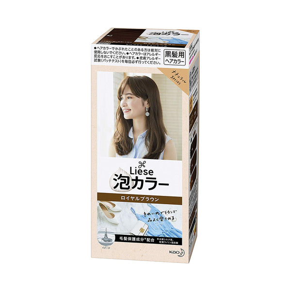 [Repackaged] KAO Liese Prettia Bubble Hair Color Dying Kit #Royal Brown