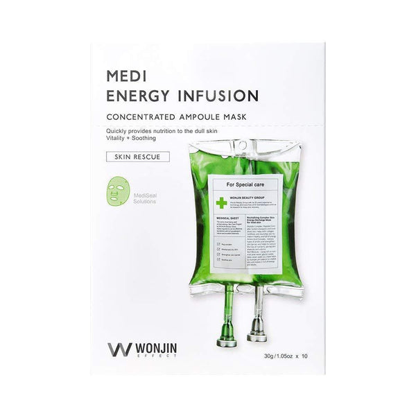 WONJIN EFFECT Medi Energy Infusion Concentrated Ampoule Mask (1box/10pcs) 原辰 焕能再生面膜