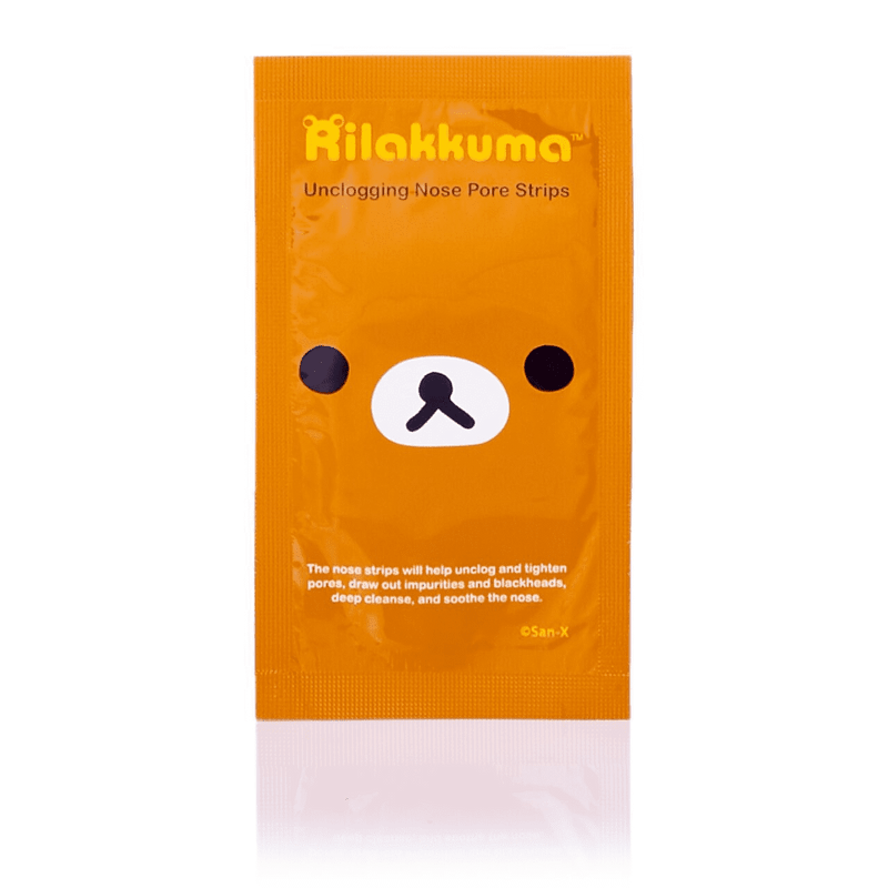 San-X Rilakkuma Unclogging Nose Pore Strips (6 PCS) 日本SAN-X 轻松熊毛孔清洁黑头贴