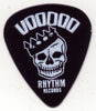 NEWS: GUITAR PICK - BLACK - Voodoo Rhythm Skul Logo