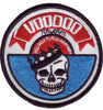 PATCH - VOODOO RHYTHM LABEL - RED WHITE BLUE