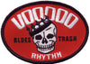 Patch - Voodoo Rhythm OVAL R/W skull