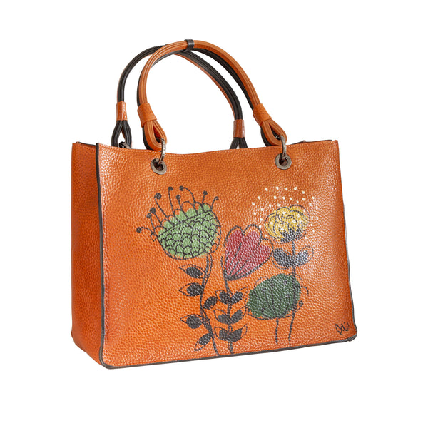 iDbag Pumpkin Orange FIORI STILIZZATI