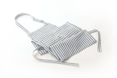 Blue Stripe Certified Organic Cotton Apron