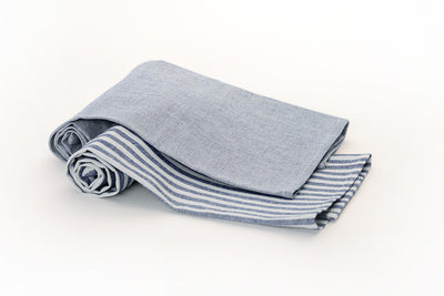 Blue Certified Organic Dish Towels (Set of 2)