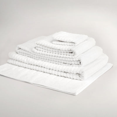 Ribbed Certified Organic Spa Towel Collection