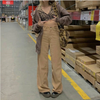 Corduroy Y2K Baggy Joggers Women Vintage Wide Leg Pants Brown Low Waist E Girl 90s Aesthetic Trousers Female Sweatpants
