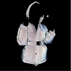 Fashion Street Style Reflective Jackets for Women Parka Hooded Long Bubble Coats 2020 Winter Outerwear