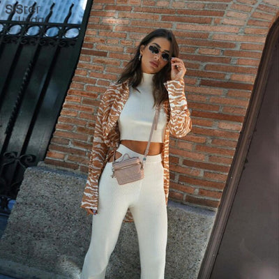 Casual Ribbed Elegant Tank Top +Cut Out Pants 2 Piece Sets Women Skinny High Stretch Backless Slim Streetwear Female Outfits2021