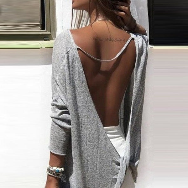 Women Backless Tee Shirts