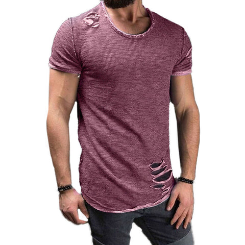 Ripped Men Short Sleeve