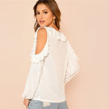 Ruffle Top Long Sleeve Tee