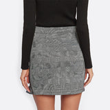 Frill Trim Plaid Wrap Skirt