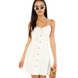 White Button Up Dress