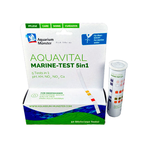 Aquarium Münster Aquavital 5-in-1 Marine Test Strips