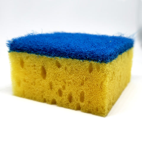 Blue & Yellow Square Scrubber Sponge