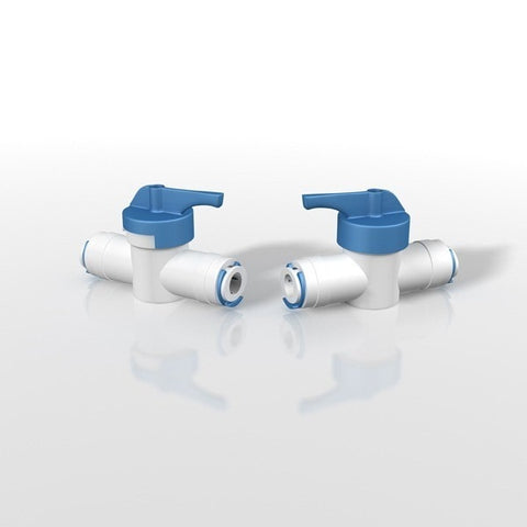 "Press 1/4"" x Press 1/4"" Valve w/2 Blue Clips (2 Pack)"