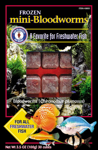 SFBB Frozen Mini Bloodworms Cubes