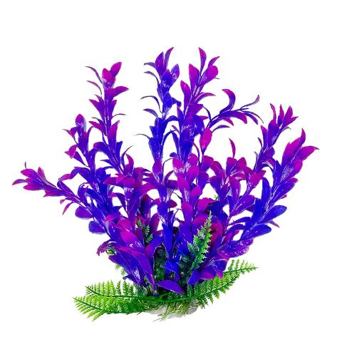 Aquatop Hygro-like Pink & Purple Aquarium Plant w/ Weighted Base