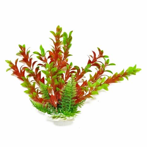 Aquatop Hygro-like Green & Red Aquarium Plant w/ Weighted Base