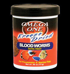 Omega Sea Freeze Dried Blood Worms 0.96 oz.