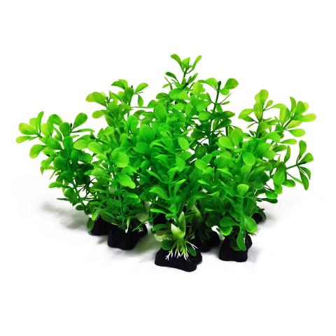 Aquatop 10-Piece Assorted Green Plant Decor
