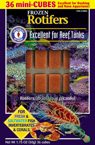 SFBB Frozen Rotifers Mini Cubes 1.75oz