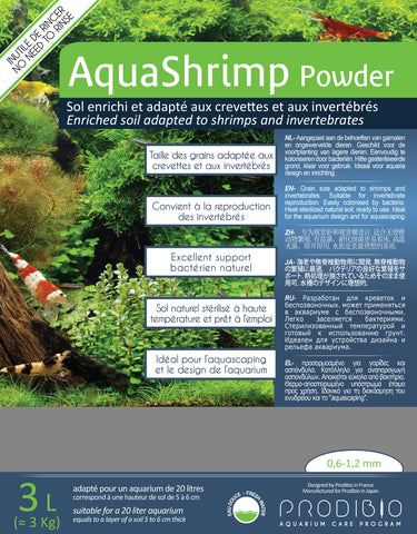 Prodibio AquaShrimp Powder (Aquarium Shrimp Substrate) 3kg