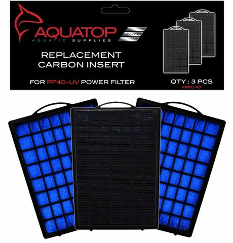 Aquatop PF40-UV Hang On UV Filter Replacement Carbon Cartridge