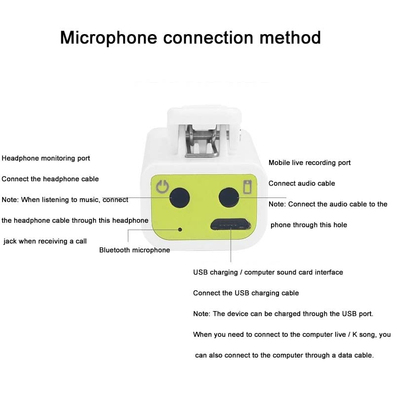 Bluetooth Mic Wireless Omnidirectional for Content Creators