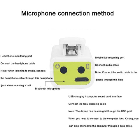Image of Bluetooth Mic Wireless Omnidirectional for Content Creators