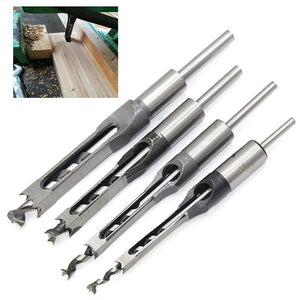 Square Hole Drill Bit Mortising Chisel Drill for DIY Woodworking Electric Drill Tools