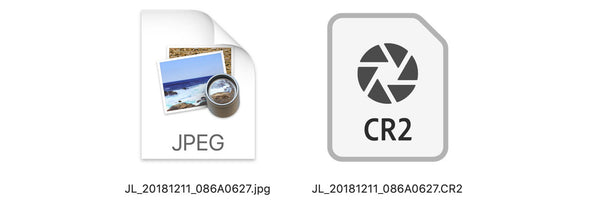RAW file and JPEG file in Mac Finder
