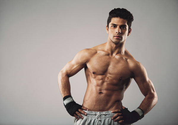 Attractive young man with muscular physique