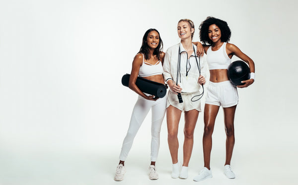 Group of females with sports equipment