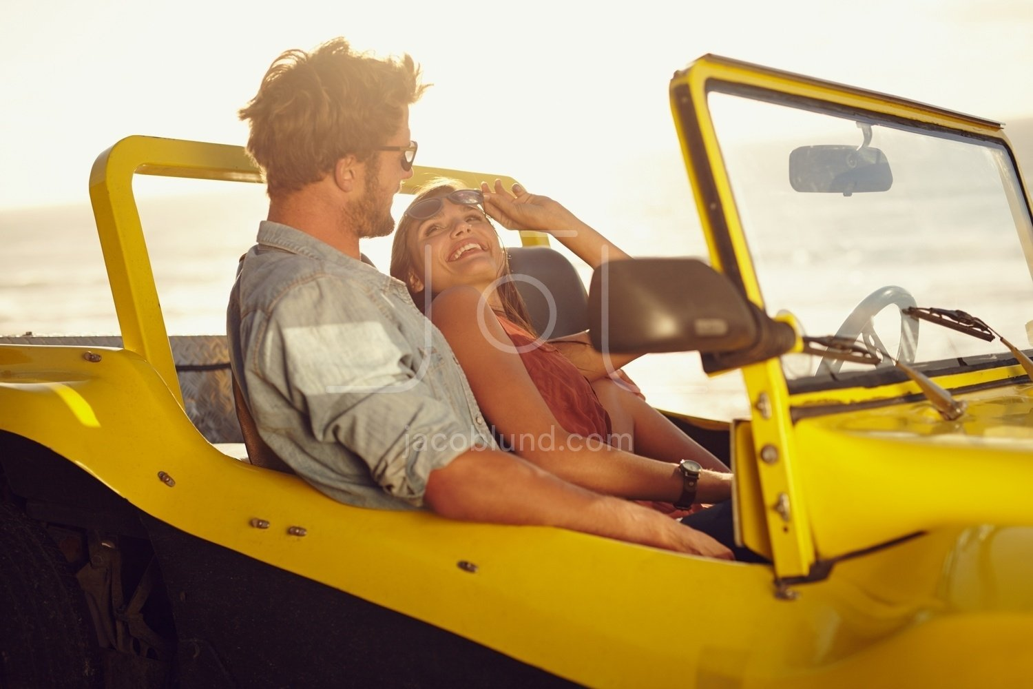 Romantic Young Couple In A Car Jacob Lund Photography Store Premium Stock Photo