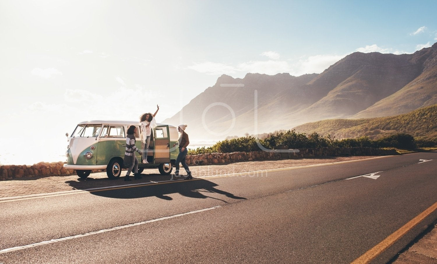 Female Friends Enjoying On A Road Trip Jacob Lund Photography Store Premium Stock Photo