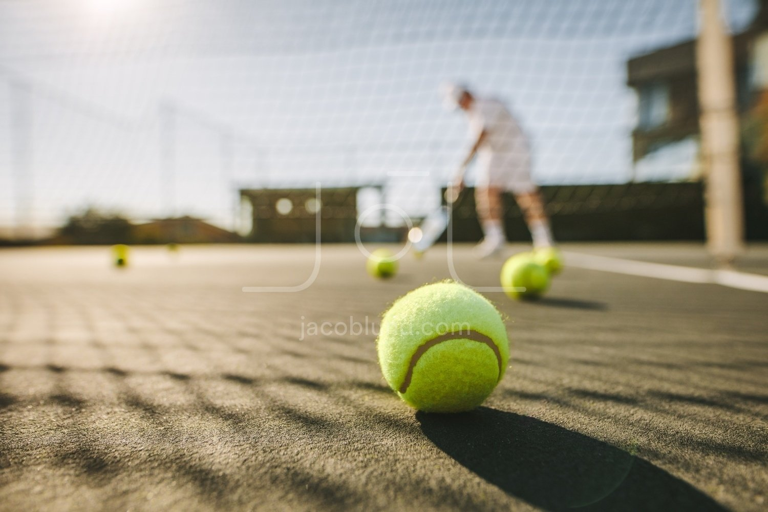 Close Up Of A Tennis Ball On Ground Jacob Lund Photography Store Premium Stock Photo