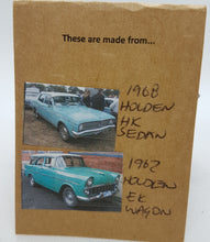 Load image into Gallery viewer, Two Tier Blue Holden HK & Twilight Turquoise Holden EK Earrings