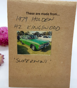 Single Tier Super Mint Holden Kingswood earrings