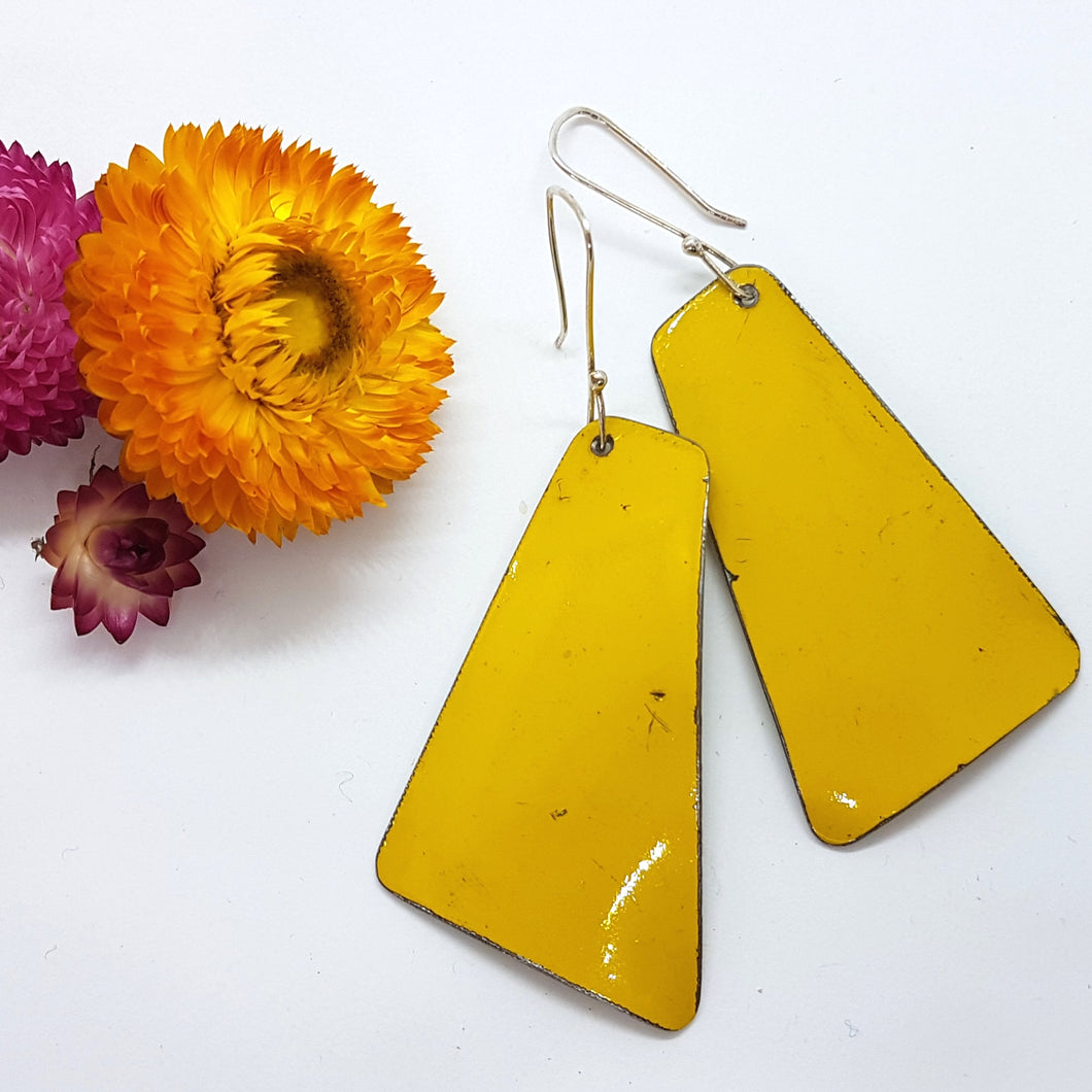 Single Tier Yellow Holden Ambulance Earrings